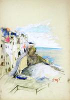 Работы  Gino Tili - Cinque Terre pastel бумага