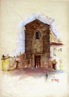 Работы  Gino Tili - Chiesa del Carmine mixed бумага
