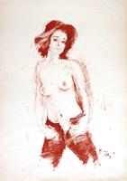 Работы  Gino Tili - Nudo pastel бумага