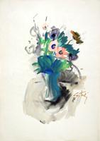 Работы  Gino Tili - Fiori watercolor бумага