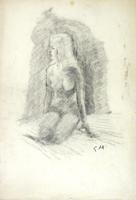 Quadro di  Gino Tili - Nudo lÁpiz colorado papel