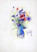 Quadro di  Gino Tili - Vaso di fiori mixta papel