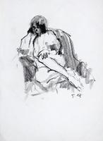 Работы  Gino Tili - Nudo charcoal бумага