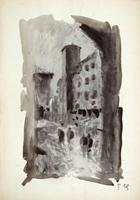 Работы  Gino Tili - Ponte Vecchio mixed бумага