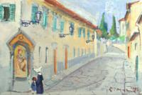 Quadro di  Rodolfo Marma - Suorina e bimba Óleos cartÓn tela