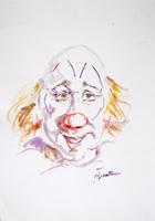 Quadro di  Luigi Pignataro - Clown acuarela papel