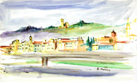 Работы  Rodolfo Marma - Firenze watercolor бумага