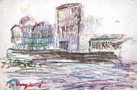 Quadro di  Guido Borgianni - Paesaggio pastel cartÓn