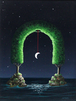 Quadro di  Franco Lastraioli - Arco di luna acrylique toile