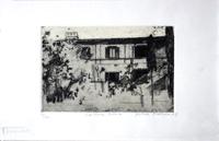 Quadro di  firma Illeggibile - La torre rossa lithographie papier