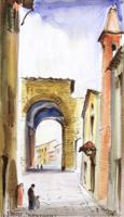 Quadro di  Rodolfo Marma - Porta Romana acuarela papel