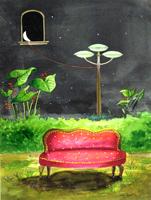 Работы  Franco Lastraioli - Poltrona watercolor бумага