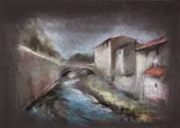 Работы  Gino Tili - Case sul Mugnone plaster бумага