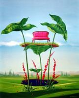 Work of Franco Lastraioli - Vivere la natura oil canvas