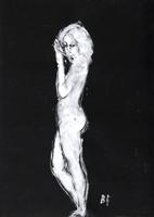 Quadro di  Beppe Fabbrini - Nudo mixta papel