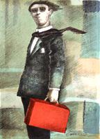Quadro di  Giampaolo Talani - Figura - Tiratura 10/100 lithographie papier