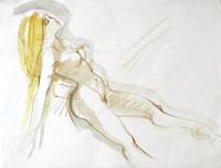 Quadro di  Claude Falbriard - Nudo mixta papel