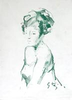 Quadro di  Gino Tili - Busto yeso papel