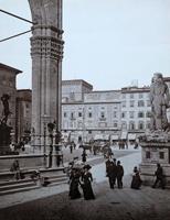 Работы   Antiquariato - Piazza della Signoria print бумага