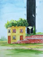 Quadro di  Franco Lastraioli - Paesaggio aquarelle papier