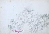 Quadro di  Guido Borgianni - Figure lÁpiz colorado papel