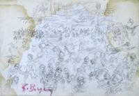 Quadro di  Guido Borgianni - Figure lÁpiz papel
