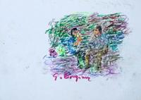 Quadro di  Guido Borgianni - Pausa pastel papel