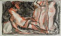 Работы  Silvio Polloni - Deposizione pastel бумага