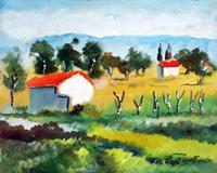 Quadro di  Luigi Pignataro - Paesaggio Óleos tableros duros