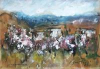 Quadro di  Sergio Scatizzi - Primavera mixta cartÓn