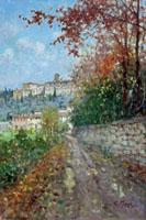 Quadro di  Graziano Marsili - Autunno alla Certosa huile toile