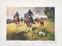Quadro di  Carlo Domenici - Camminando per campi - Tirarura 37/50 lithographie papier