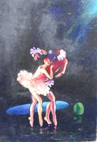 Quadro di  Luigi Pignataro - Ballerina  acrÍlico tabla