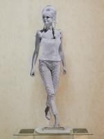 Work of Andrea Tirinnanzi - Brigitte Bardot bifacial digital sculpting paper on table