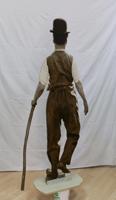 Work of Andrea Tirinnanzi - Charlie Chaplin bifacial digital sculpting paper on table