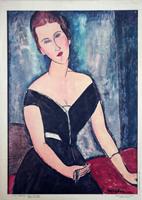 Quadro di Amedeo Modigliani  Riproduzione di Madame Van Muyden