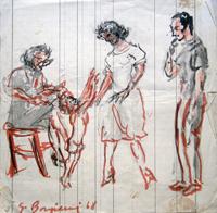Quadro di  Guido Borgianni - Vita familiare mixta papel