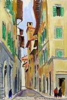 Quadro di  Rodolfo Marma - Via delle oche Óleos cartÓn tela