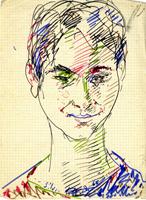 Quadro di  Silvio Loffredo - Ritratto marqueur papier
