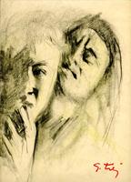 Quadro di  Gino Tili - Incubi pastel papel