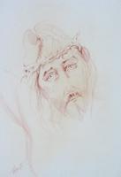 Quadro di  Luigi Pignataro - Cristo sanguina papel