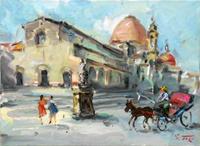 Quadro di  Gino Tili - San Lorenzo Óleos tela