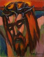 Quadro di  Dino Migliorini - Cristo Óleos tableros duros