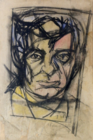 Quadro di  Vinicio Berti - Ritratto di Rolando Rigacci mixta papel