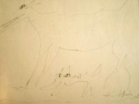 Quadro di  Silvio Loffredo - Cane e gatto crayon papier