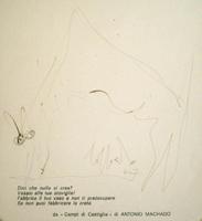 Quadro di  Silvio Loffredo - Cane lÁpiz colorado papel
