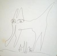 Quadro di  Silvio Loffredo - Gatto stylo papier