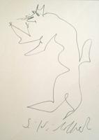 Quadro di  Silvio Loffredo - Cane marqueur papier
