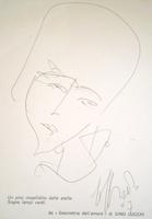 Quadro di  Silvio Loffredo - Volto aquarelle papier
