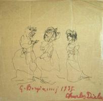 Quadro di  Guido Borgianni - Signore pluma papel amarillo